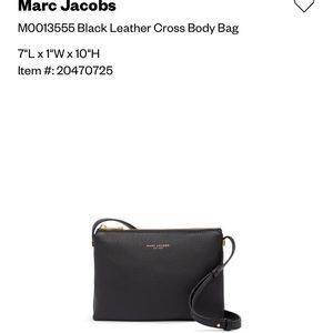 NWT Marc Jacobs Pebbled Leather Pink Crossbody Bag